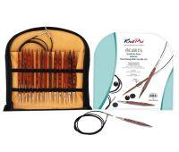 """25613 Knit Pro Набор """"Deluxe Set"""" съемных спиц """"Cubics"""" (в наборе: спицы съемные (4мм, 4,5мм, 5мм, 5,5мм, 6мм, 7мм, 8мм), тросик (60см, 80см-2шт, 100см), заглушка с ключиком-4 пары, кабельное соединение-1 набор), дерево, коричневый, 7"""