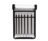 """41615 Knit Pro Набор чулочных спиц длиной 20см """"Karbonz"""" (в наборе: спицы чулочные-2,5мм, 3мм, 3,5мм, 4мм, 4,5мм, 5мм), карбон, черный, 6 видов спиц в наборе"""