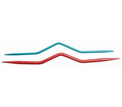 45501 KnitPro Спицы вспомогательные для кос 2,5мм, 4мм, алюминий, красный/синий, 2шт в упаковке, 45501