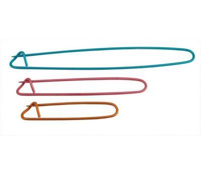 45502 Knit Pro Булавки для незакрытых петель , длина 16см, 11см, 8см, алюминий, синий/красный/оранжевый, 3шт в упаковке, 45502
