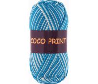 Vita cotton Coco print  Голубая бирюза меланж
