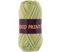 Vita cotton Coco print Желто-зеленый меланж