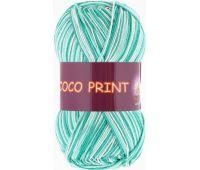 Vita cotton Coco print Зеленая бирюза меланж