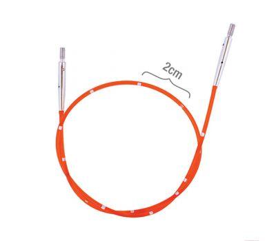 42172 Knit Pro Тросик (заглушки 2шт, кабельный ключик) для съемных спиц, длина 28см (готовая длина спиц 50см), красный, 42172