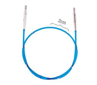 42173 Knit Pro Тросик (заглушки 2шт, кабельный ключик) для съемных спиц, длина 35см (готовая длина спиц 60см), синий, 42173
