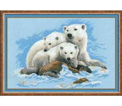 """1033 Набор для вышивания """"Риолис"""" Белые медведи 60х40 см, 1033"""