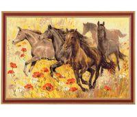 """1064 Набор для вышивания """"Риолис"""" Табун лошадей 60х40 см"""
