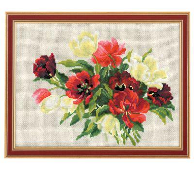 """1065 Набор для вышивания """"Риолис"""" Тюльпаны 30х24 см, 1065"""