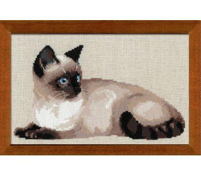 """1066 Набор для вышивания """"Риолис"""" Тайская кошка 38х26 см, 1066"""
