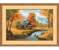 """1079 Набор для вышивания """"Риолис"""" Осенний пейзаж 38х26 см"""