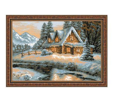 """1080 Набор для вышивания """"Риолис"""" Зимний пейзаж 38х26 см, 1080"""