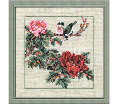 """484 Набор для вышивания """"Риолис"""" Птицы на ветке 35х35 см, 484"""