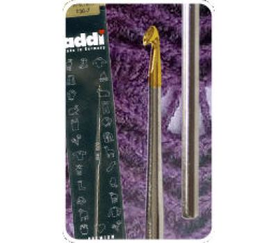 130-7/0.5-13 Addi крючок вязальный, экстратонкий, сталь №0.5, 13 см, 130-7/0.5-13