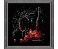 """1239 Набор для вышивания """"Риолис"""" Натюрморт с красным вином 30х30 см"""