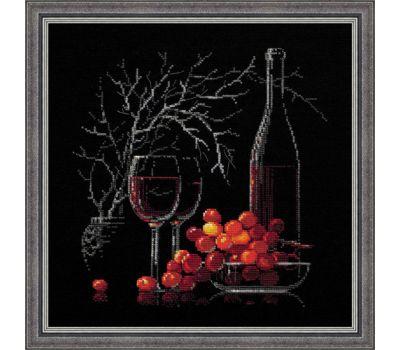 """1239 Набор для вышивания """"Риолис"""" Натюрморт с красным вином 30х30 см, 1239"""