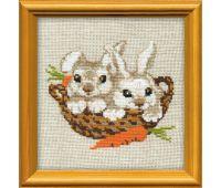 """676 Набор для вышивания """"Риолис"""" Кролики 15х15 см"""