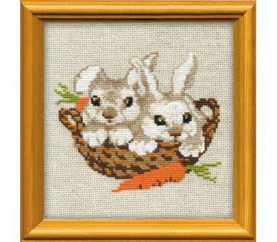 """676 Набор для вышивания """"Риолис"""" Кролики 15х15 см, 676"""