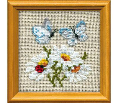 """757 Набор для вышивания """"Риолис"""" Ромашки с бабочками 10х10 см, 757"""