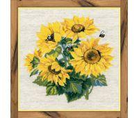 """776 Набор для вышивания """"Риолис"""" Подсолнухи с пчелами 40х40 см"""