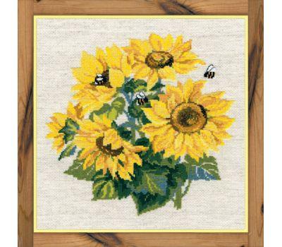 """776 Набор для вышивания """"Риолис"""" Подсолнухи с пчелами 40х40 см, 776"""