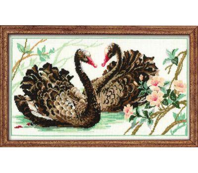 """806 Набор для вышивания """"Риолис"""" Черные лебеди 40х24 см, 806"""