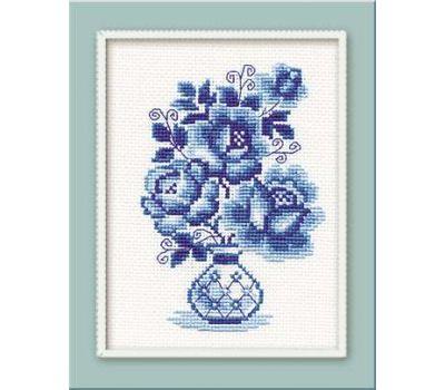 """839 Набор для вышивания """"Риолис"""" Гжель. Розы 18х24 см, 839"""