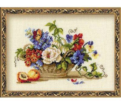 """864 Набор для вышивания """"Риолис"""" Натюрморт с персиком 30х24 см, 864"""
