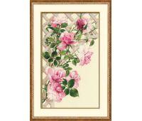 """898 Набор для вышивания """"Риолис"""" Розовые розы 35х55 см"""