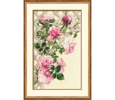 """898 Набор для вышивания """"Риолис"""" Розовые розы 35х55 см, 898"""