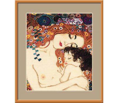 """916 Набор для вышивания """"Риолис"""" «Материнская любовь» по мотивам картины Г. Климта» 30х35 см, 916"""