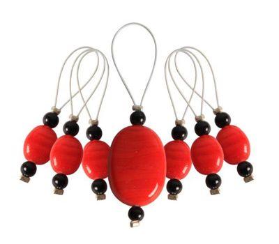"10934 Knit Pro Маркер для вязания ""Tangerine"" /Мандарин/ пластик, 7шт в упаковке, 10934"