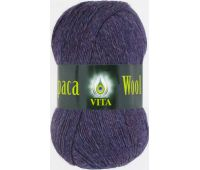Vita Alpaca wool Брусничный меланж