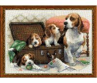 """1328 Набор для вышивания """"Риолис"""" Собачье семейство 40х30 см"""