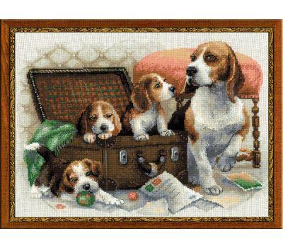 """1328 Набор для вышивания """"Риолис"""" Собачье семейство 40х30 см, 1328"""