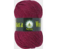 Vita Alpaka wool Бордовый