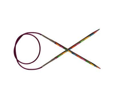 """100/6,00 Knit Pro Спицы круговые укороченные """"Symfonie"""" 6мм/100см  ламинированная береза, многоцветный, 21356"""
