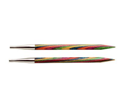 """3,75 Knit Pro Съемные спицы  """"Symfonie"""" 3,75мм для длины тросика 28-126см, ламинированная береза, многоцветный, 2шт в упаковке, 20402"""