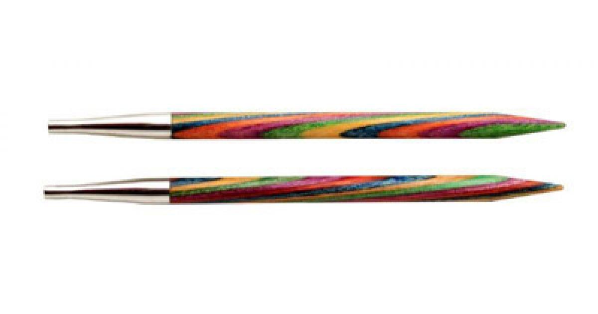 """5,00 Knit Pro Съемные спицы """"Symfonie"""" 5мм для длины тросика 28-126см, ламинированная береза, многоцветный, 2шт в упаковке, 20405"""