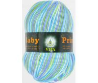 Vita Baby print Бирюзово желто сиреневый