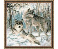 """1393 Набор для вышивания """"Риолис"""" Волчья пара 40х40 см"""