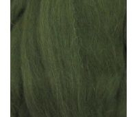 Пехорский текстиль Наборы для рукоделия Шерсть для валяния ПОЛУтонкая  Темно оливковый