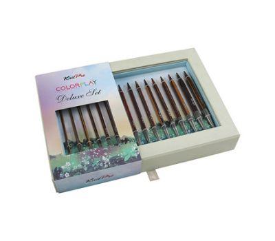 """20625 Knit Pro Набор """"Color Play Deluxe Set"""" съемных спиц (в наборе: спицы съемные (3,5мм, 4мм, 4,5мм, 5мм, 5,5мм, 6мм, 7мм, 8мм), тросик (60см, 80см-2шт, 100см), заглушки 8шт, кабельный ключик 4шт, кабельное соединение 1набор), ламинированная б"""