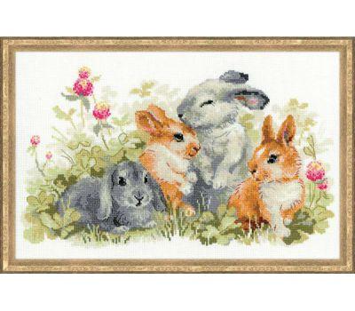 """1416 Набор для вышивания """"Риолис"""" Забавные крольчата 40х25 см, 1416"""