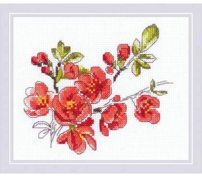 """1819 Набор для вышивания """"Риолис"""" Веточка цидонии 16х13 см, 1819"""