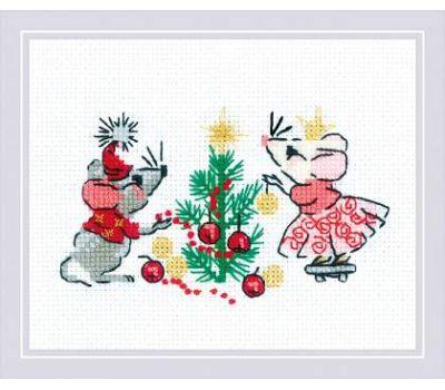 """1823 Набор для вышивания """"Риолис"""" Ожидание праздника 16х13 см, 1823"""