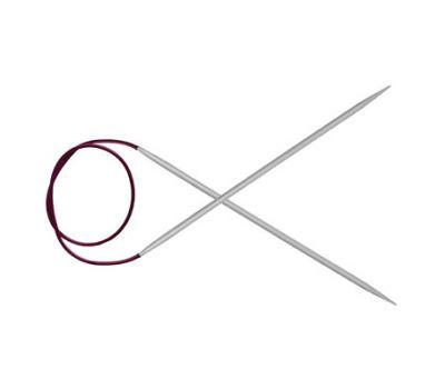 """80/5,00 Knit Pro Спицы круговые """"Basix Aluminum"""" алюминий, серебристый №5,0, 45337"""