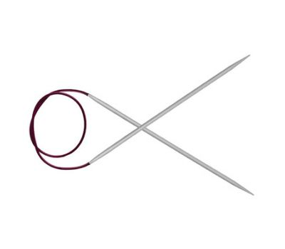 """100/5,00 Knit Pro Спицы круговые """"Basix Aluminum"""" алюминий, серебристый №5,0, 45347"""