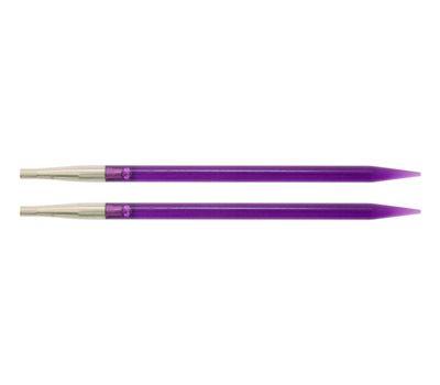 """5,00 Knit Pro Съемные спицы """"Trendz"""" 5мм для длины тросика 28-126см, акрил, фиолетовый,  2шт в упаковке, 51255"""