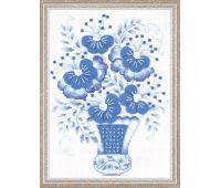 """1366 Набор для вышивания """"Риолис"""" Голубой букет 18х24 см"""