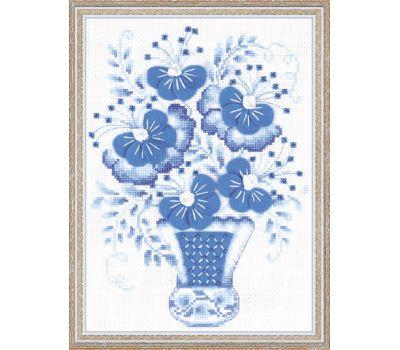 """1366 Набор для вышивания """"Риолис"""" Голубой букет 18х24 см, 1366"""